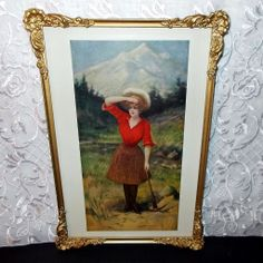 Lovely Mining Girl with Ax by H.M. Pollock 1904 - White City Art Chicago