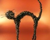 Halloween wire cat