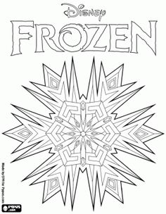 Frozen Snowflake Coloring Pages - klejonka