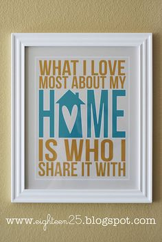 """What I love most about my home"" free printable"