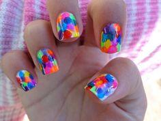 Try a rainbow mani! #nails