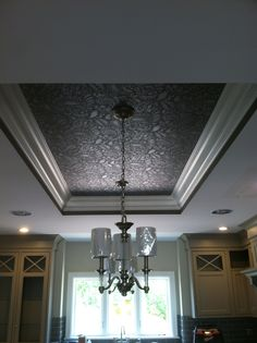 Paisley stenciled ceiling