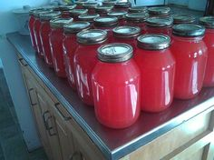 Homemade Rhubarb Juice  Stocked Up For The Year Ahead from the Amish Cook