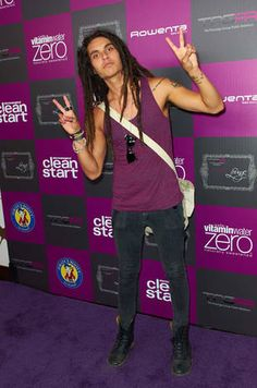 Samuel Larsen Poses at the VMAs Gifting Lounge in Los Angeles on August 26, 2011