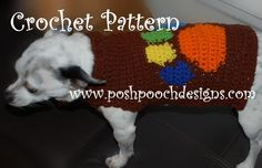 Crochet Pattern  Paw Print Dog Sweater Small by poshpoochdesigns, $4.99
