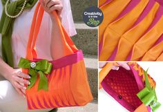 Creativity is in the Bag: Preppy Wave Tucked Handbag