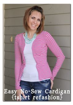 Sugar Bee Crafts: sewing, recipes, crafts, photo tips, and more!: No Sew Cardigan - refashion