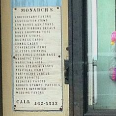 "Monarchs - the store for people who need everything. Including ""combs cases."" (Spotted driving in NW DC)"