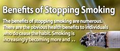Reasons why you should stop stop smoking!