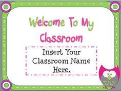 free powerpoint template school -http://www.teacherspayteachers.com/Product/Back-To-School-Owl-Themed-Open-House-Powerpoint-Template