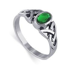Sterling Silver Oval Shaped Emerald Cubic Zirconia Polished Finished 7mm Wide Band Solitaire Ring Size 7 (Jewelry)  http://www.gift.skincaree.com/ard.php?p=B0012OX59G  B0012OX59G