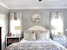 Romantic Master Bedroom Decorating Ideas blue, GREY, WHITE | Interior Design Ideas, Window Treatments, Remodeling, Fabrics ...