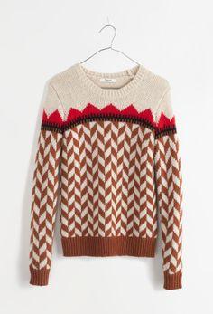 Madewell chevron ski sweater.