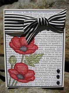 Newsprint Poppies