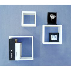 White Wall Cubes, Set of 3  24.97