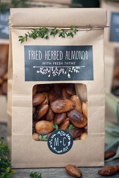 Herbed fried almonds with thyme