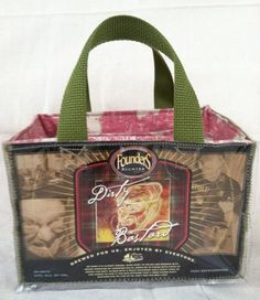 Make a purse from a beer 6-pack box