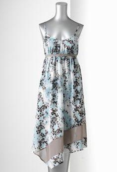 Simply Vera Vera Wang Geometric Handkerchief-Hem Dress