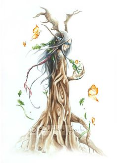 The ent, spirit of earth by Delphine Gache
