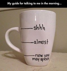 Talking To Me In The Morning  - funny pictures #funnypictures