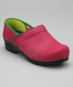 Take a look at this Fuchsia Original Professional Electra Closed Clog - Women by Sanita on #zulily today!