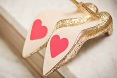 customize your bridal shoes with hearts