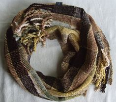 Handwoven Chenille Scarf by barefootweaver on Etsy, $110.00