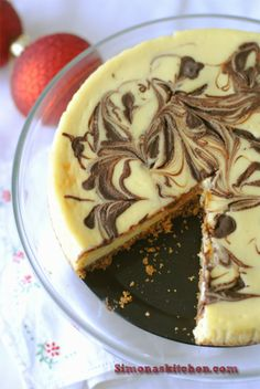 Gordon Ramsey Marbled Cheesecake