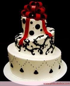 Black & White Wedding Cake Ideas