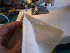 How to sew corner