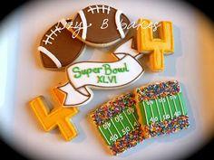 super bowl, football treats, bowl set, sprinkl, bake, cookies, superbowl cooki, parti, bowls