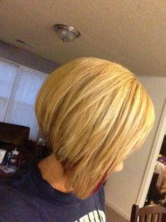 blond bob, haircut