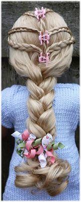 a Rapunzel look