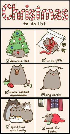 To do list christmas time, kitten, bookmark, check lists, fat cats, pusheen, kitty, inspiring pictures, the holiday