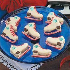 holiday, brownie recipes, ice skate, browni recip, cooki, christma food, candy canes, skate browni, dessert