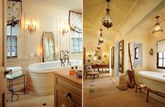 LOVE these bathrooms...I would never leave...