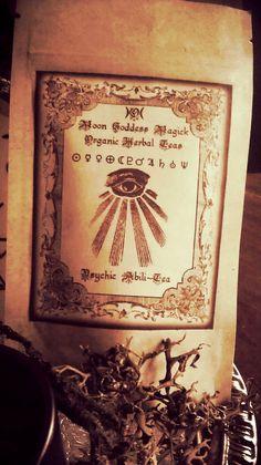 Psychic Abili-Tea...Organic Herbal Tea, Psychic Ability, Mugwort, Jasmine, Gotu Kola..Psychic Awareness, Visions