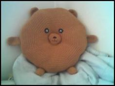 Bear-y Huggable Pillow | AllFreeCrochet.com