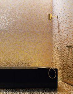 love gold tiles