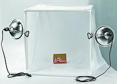 DIY Light Tent craft stuff, craft space, art crafts, diy light tent, paper tent craft, inspir, card, craft room, craft ideas