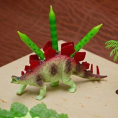 Dinosaur Party...great idea for candle holder