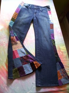 CUSTOM BELL BOTTOMS You Send Yours Hippie by SlowFashionMovement, $89.00