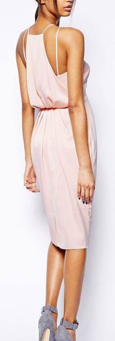 drape back pencil dress