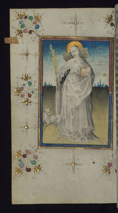 Illuminated Manuscript, Book of Hours, St. Agnes, Walters Art Museum Ms. W.165, fol. 125v by Walters Art Museum Illuminated Manuscripts, via Flickr