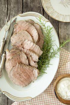 Paula Deen Slow Cooked Roast with Creamy Herb Sauce
