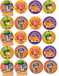 Team Umizoomi Birthday Party 2 inch Circle by GirlyMommaDesigns, $2.00