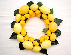 Lemon Wreath will be on my door this Summer!  Lemonade anyone?