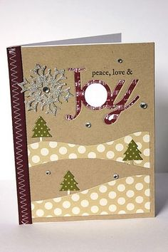 Peace, Love & Joy Card by Heather Nichols for Papertrey Ink (September 2013)