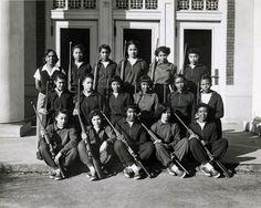 Women's rifle team, Howard University, Washington DC, 1937. Scurlock Studio Records, Archives Center, National Museum of American History, Smithsonian Institution