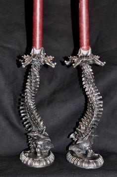 Helix Ossuary Candlestick holders.
